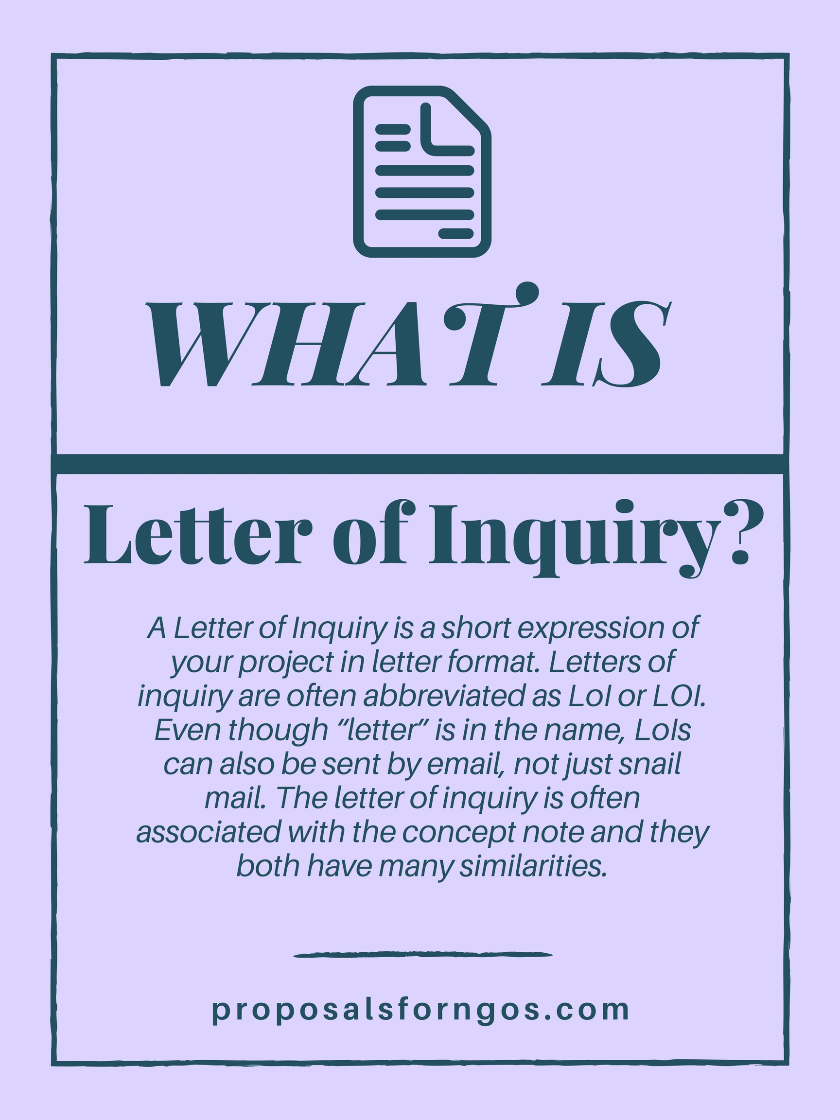 What is a Letter of Inquiry ProposalsforNGOs