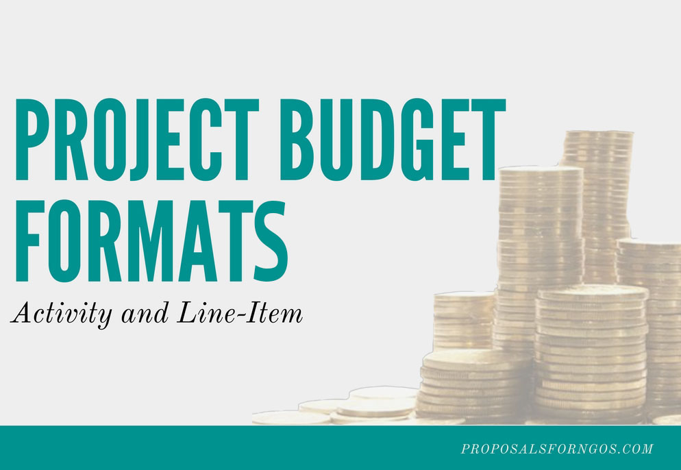 project budget formats activity and line item proposalsforngos