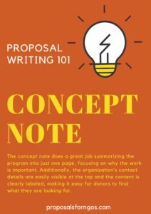 Contents of the Concept Note: Project Summary