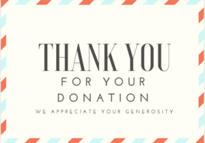 Sample Thank You Email to Donors