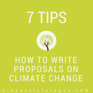 7 Tips for Proposals on Climate Change