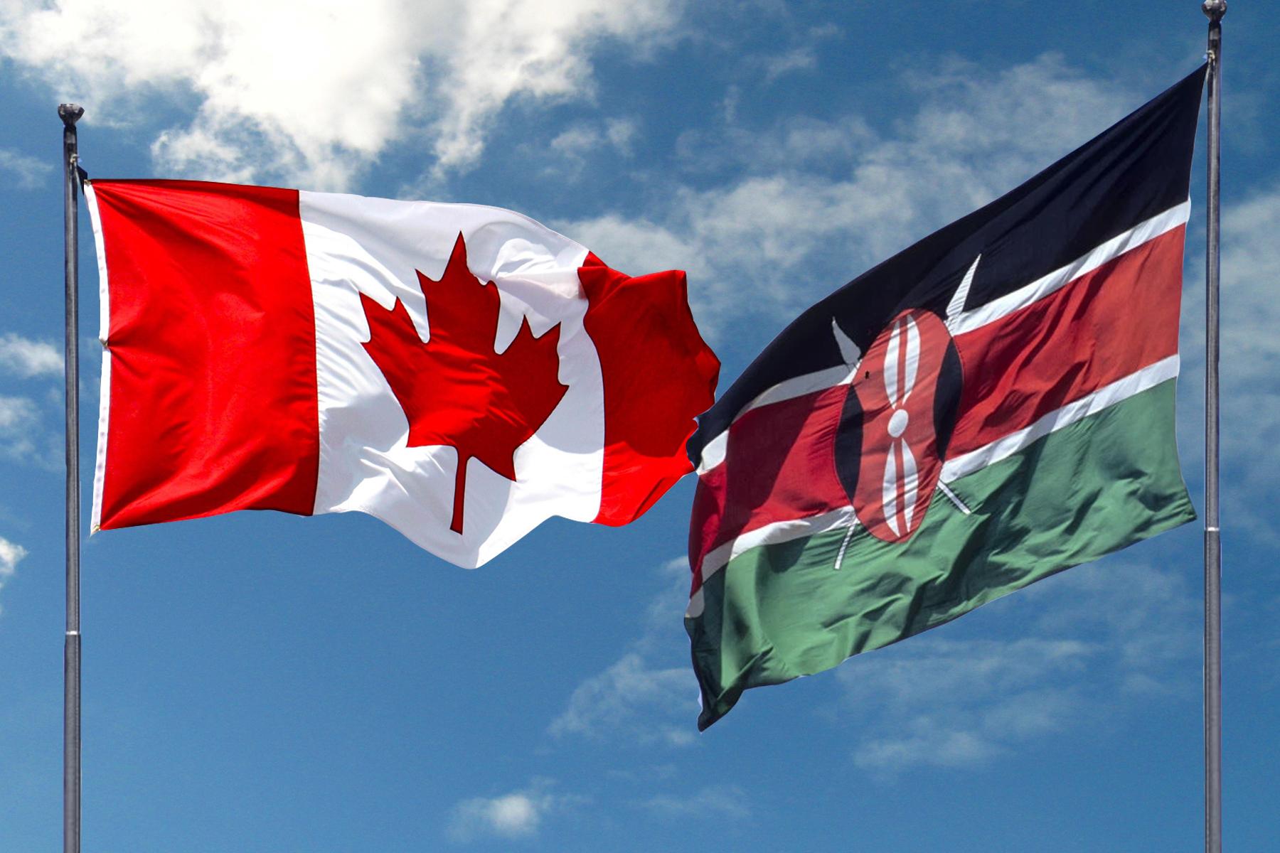 flag of Canada and Kenya