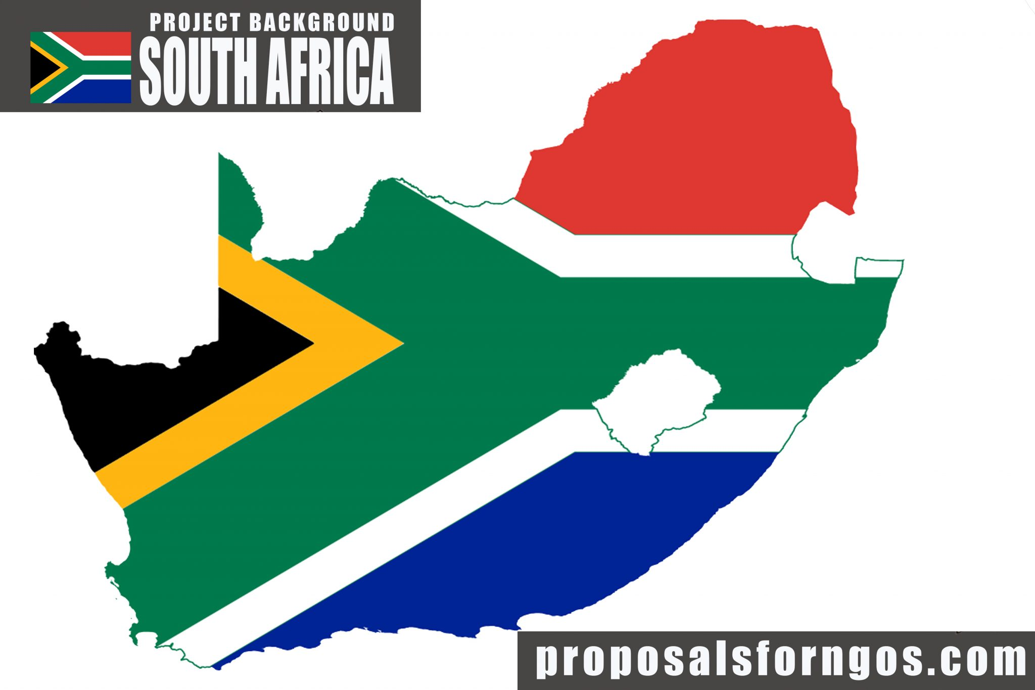 ProjectBackground-South Africa with map and flag
