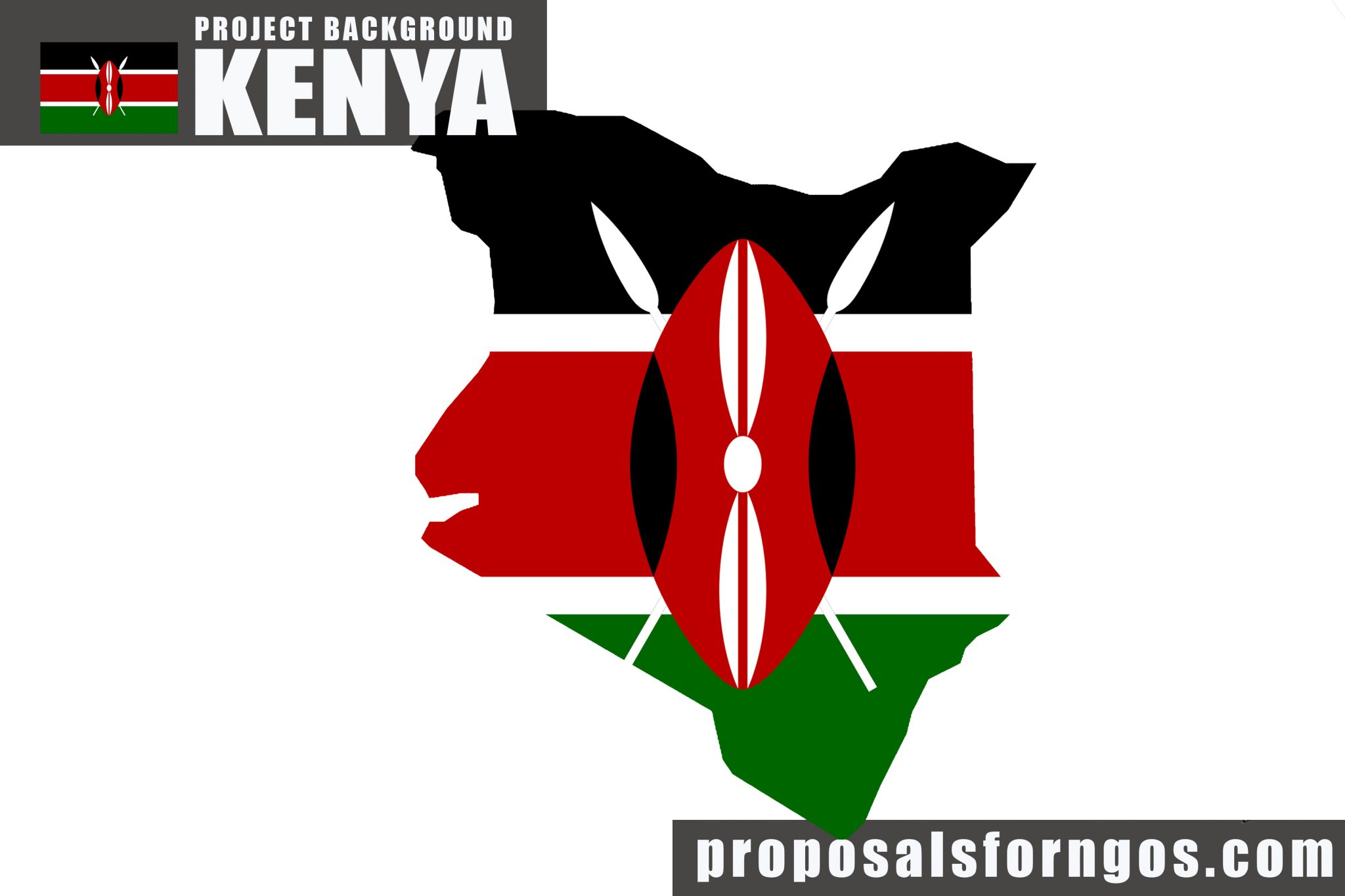 Flag and map of kenya