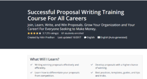 Successful Proposal Writing Training Course For All Careers