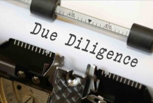 Due Diligence? Be ready and prepared