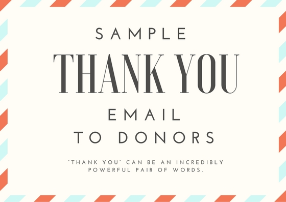 Sample Thank You Email To Donors Proposal For Ngos
